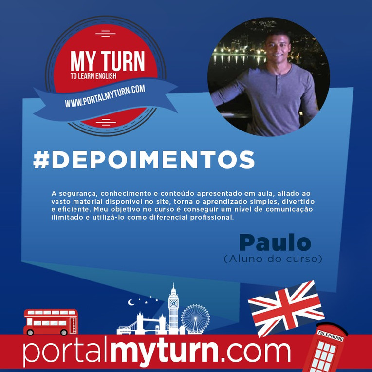 Paulo César, aluno do My Turn To Learn