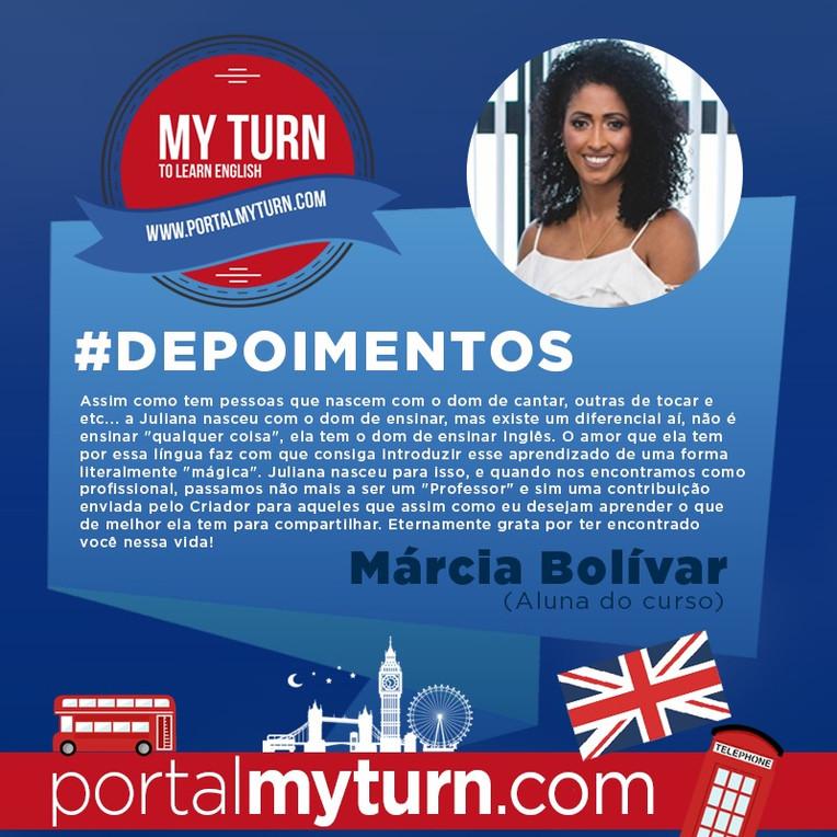 Márcia Bolivar, aluna do My Turn To Learn