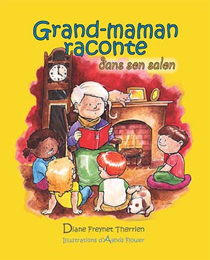 Grand-maman raconte dans son salon