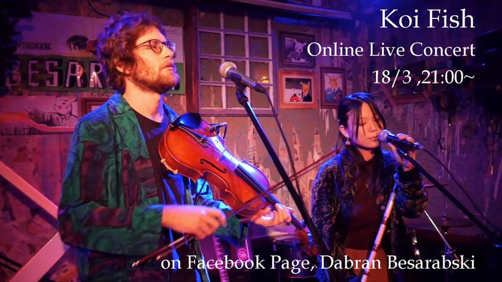 Koi Fish's Online Concert at Besarabia!