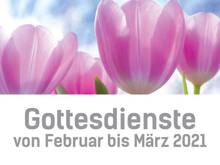 Gottesdienste im März 2021