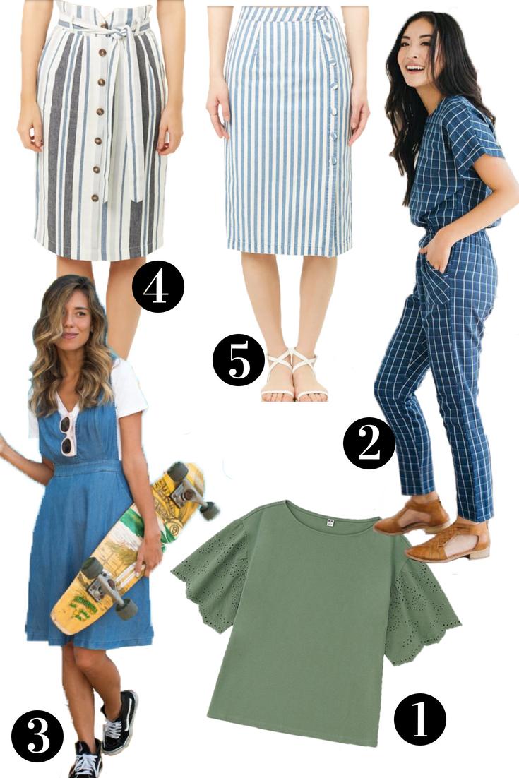 modest, modest clothes, modest skirts, modest striped skirt, cheap modest clothes