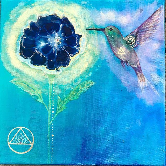 1946 #indigodahlia #lotus #hummingbird #
