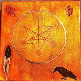 2016 #magik #crowwisdom #merkaba #oaktre