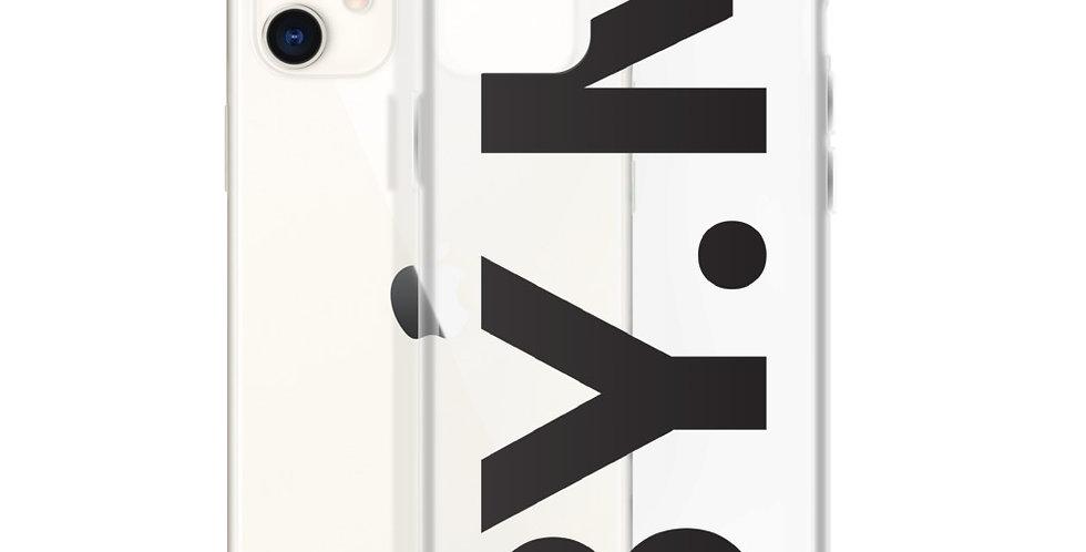 Transparent iPhone case BY.M big