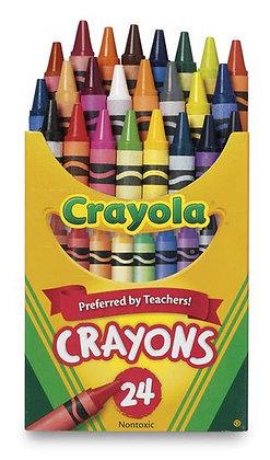 Crayola® Wax Crayons - Tuck Box of 24