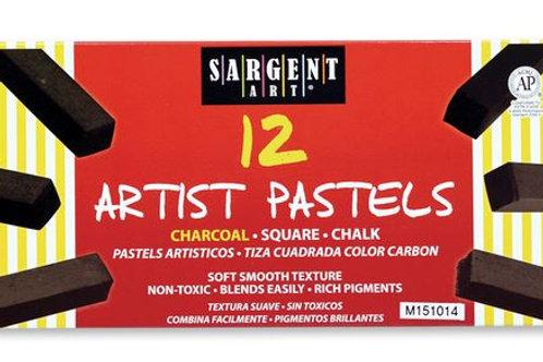 Sargent Art® Square Chalk Charcoals - Set of 12