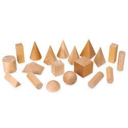 19 Wooden Geometric Solids
