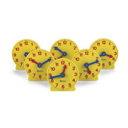Big Time™ Learning Geared Mini Clocks - Set of 6