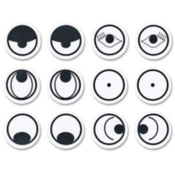 NASCO Stick-On Eye Assortments with Expressions