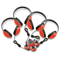 Califone® 4-Student Listening First™ Center - Red