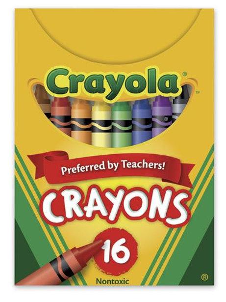Crayola® Wax Crayons - Tuck Box of 16