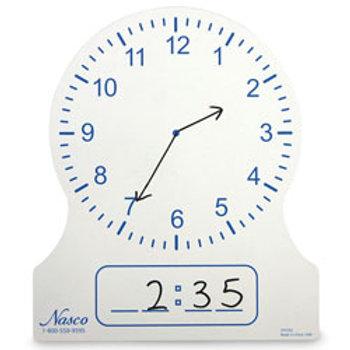 Student Dry-Erase Clock - 8-1/2 in. x 7-5/16 in.