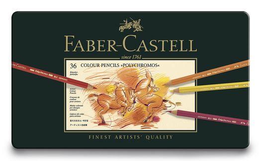 Faber-Castell® POLYCHROMOS® Artist Color Pencils - Set of 36