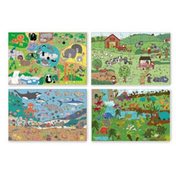 Green Start® Giant Floor Puzzles - Set of 4
