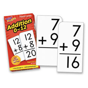 Addition 0-12 Skill Drill Flash Cards