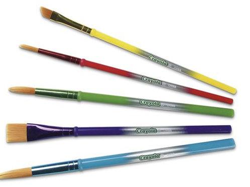 Crayola® Arts & Crafts Brushes - Set of 5