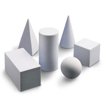 Nasco Geometric Solids - Set of 6 White