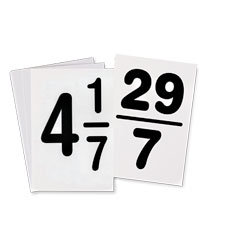 Changing Mixed Numbers to Fractions Flash Cards