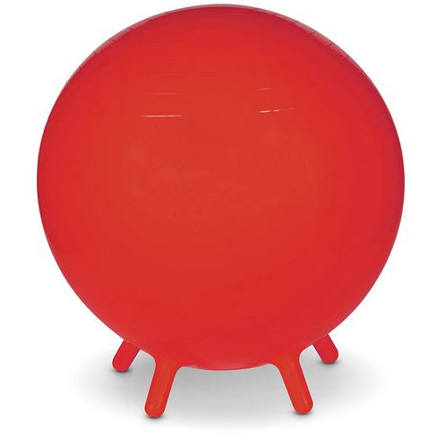 MAC-T® Inflatable Exercise Ball with Legs - 26 in. Diameter - Red
