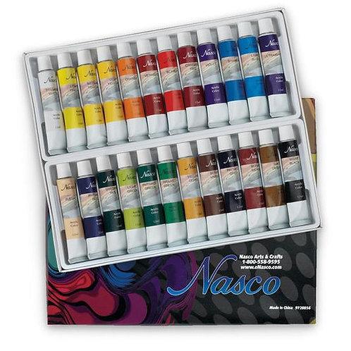 Nasco Acrylic Paint Set of 24 - 12 ml