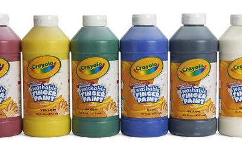 Crayola® Washable Finger Paint - Pint - Set of 6