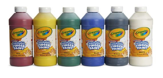 Crayola® Washable Finger Paint - Pint - Set of 6