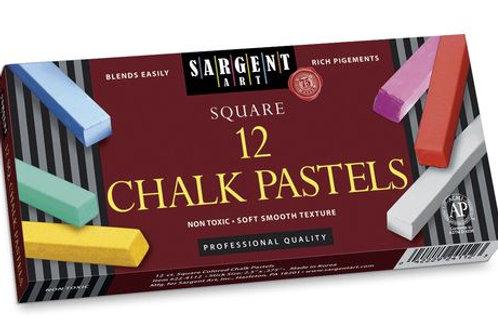 Sargent Art® Square Chalk Pastels - Set of 12