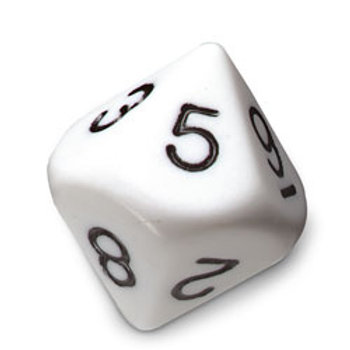 10-Sided (Decahedron) Polyhedra Dice - Numbered 0-9