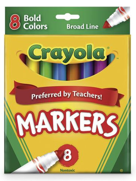 Crayola® Bold Conical-Tip Markers - Set of 8