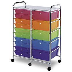 Alvin® Blue Hills Studio™ 15-Drawer Storage Cart