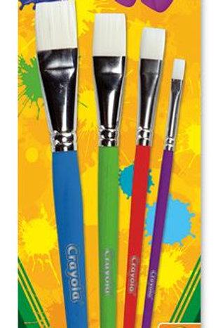 Crayola® Big Paintbrushes - Sets of 4 Flats