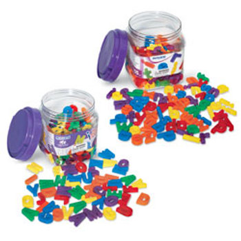 Small Multi-Colored Magnetic Letters Complete Set