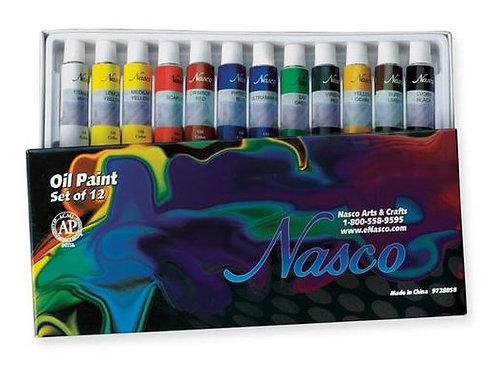 Nasco Oil Paints - Set of 12 - 0.4 oz. (12 ml)