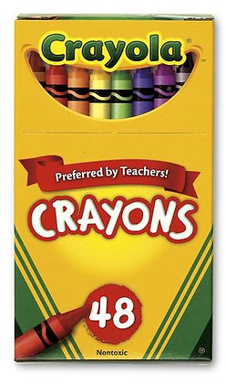 Crayola® Wax Crayons - Hinged-Lid Box of 48