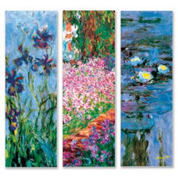 Claude Monet Art Prints - Set of 3 - 36 in. x 12 in.
