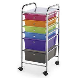 Alvin® Blue Hills Studio™ Storage Six-Drawer Cart - Multicolor