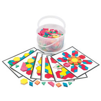 Foam Pattern Blocks, Bucket of 250 pieces