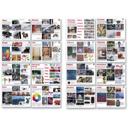Elements of Art and Principles of Design Posters - Set of 16