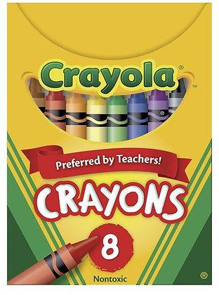 Crayola® Wax Crayons - Tuck Box of 8
