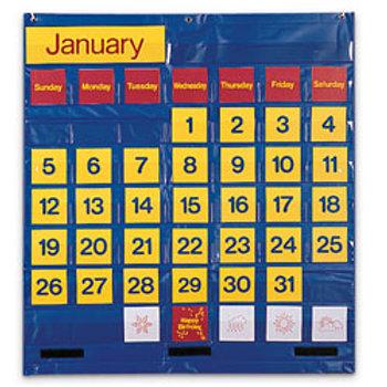 Bilingual Monthly Calendar Pocket Chart