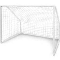 FOOTBALL PRO GOAL POST 5M x 2M - WHITE NET