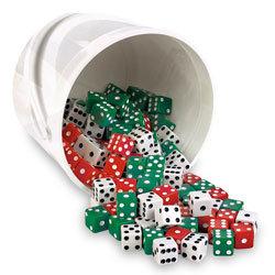 Bucket of Dice, Bucket of 144 pieces