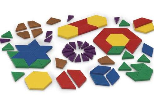 Complete Fraction Pattern Block Set