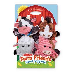 Farm Friends Hand Puppets - Set of 4
