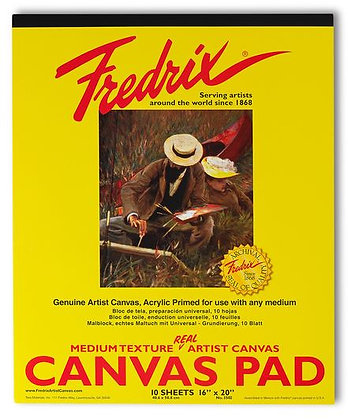 """Fredrix® """"Real""""Canvas Pad - 16 in. x 20 in. - 10 Sheets"""