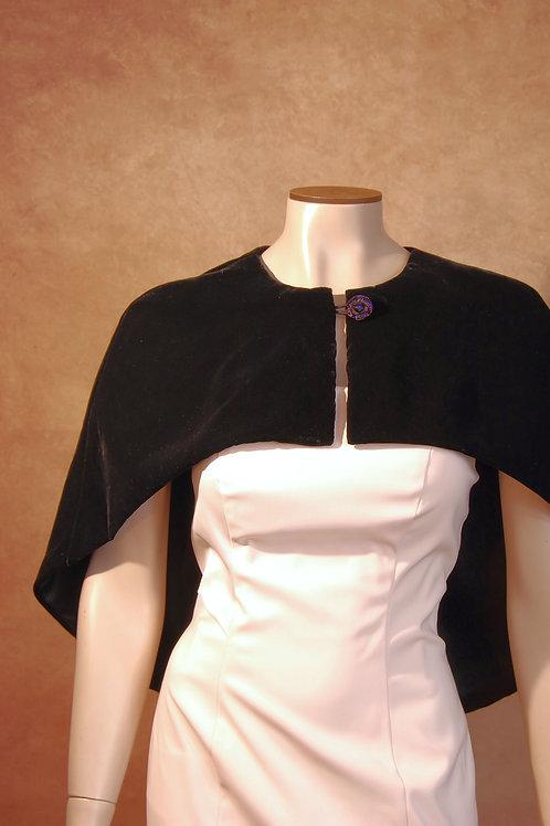 black velvet capelet