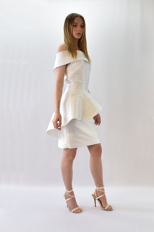 Two piece bridal ensemble with skirt