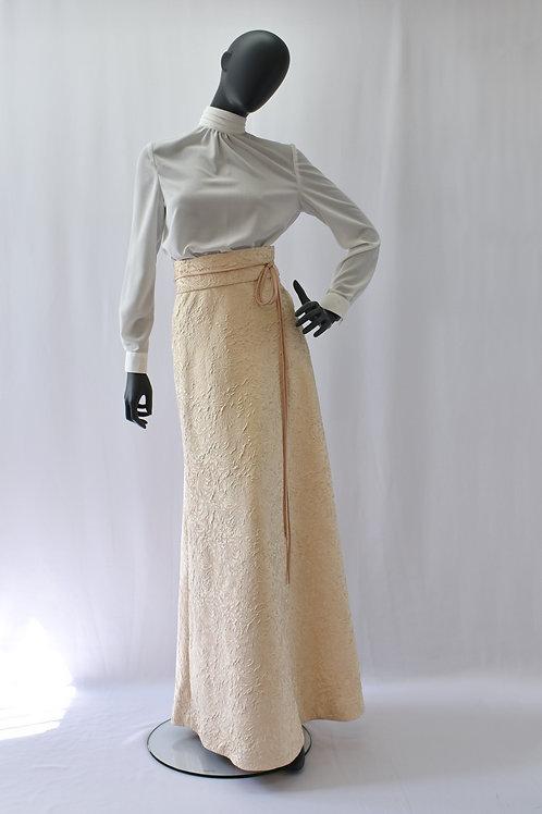 Edwardian Style Jacquard Maxi Skirt