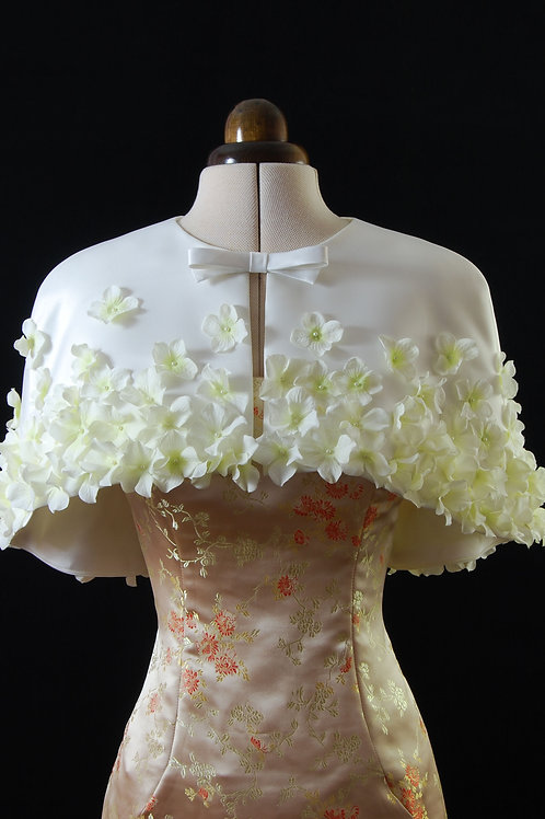 cape with flowers